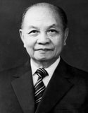 Trường Chinh (pseudonym meaning 'Long March', born Đặng Xuân Khu (1907-1988) was a Vietnamese communist political leader and theoretician. From 1941 to 1957, he was Vietnam's second-ranked communist leader (after Hồ Chí Minh).<br/><br/>  Following the death of Lê Duẩn in 1986, he was briefly Vietnam's top leader. He is remembered as a communist hard liner with strong Maoist tendencies.